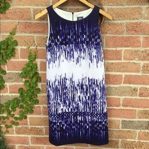 Vince Camuto Blue and White Sheath dress size 6
